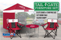 "Indiana University Dining Canopy, 30"" Table and Two Deluxe Chairs"