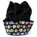 10-Pocket Bingo Ball Print Bag (Black)