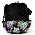 10-Pocket Bingo Card Print Bag (Black)