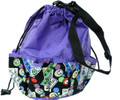 10-Pocket Bingo Card Print Bag  (Purple)