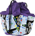 10-Pocket Classic Bingo Card Print #1 Bag (Purple)