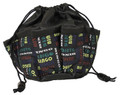 10-Pocket Bingo Print Bag (Black)