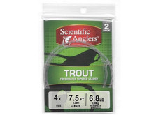 CLOSEOUT - Scientific Anglers 7.5' Trout Leaders 2-Pack