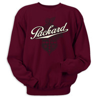 A classic design on a Maroon Jerzees Sweatshirt • 8 oz. 50% cotton, 50% polyester preshrunk fleece.
