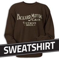 A distressed weathered design on a Chocolate Brown Jerzees Sweatshirt • 8 oz. 50% cotton, 50% polyester preshrunk fleece.