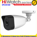 HiWatch by Hikvision IPC-T120-D 1080p 2MP CCTV IP Network Camera 12V 30m IR 2.8mm Fixed lens WDR