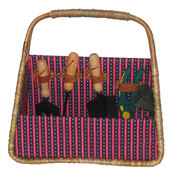 The Tuscan Gardener Seagrass Basket and Tools