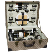 Luxury Picnic Chest with Service for 4