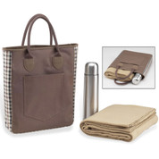 Picnic at Ascot - London Coffee/Blanket Tote