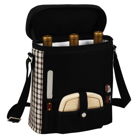 Picnic at Ascot - Three Bottle Wine & Cheese Tote