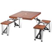 Picnic at Ascot - Portable Picnic Table Set (Brown)