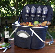 Picnic at Ascot - Collapsible Insulated Picnic Basket for 4