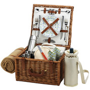 Picnic at Ascot - Cheshire Basket for 2 w/ Coffee set & Blanket