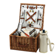 Picnic at Ascot - Cheshire Basket for 2 w/ Coffee Service
