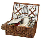 Picnic at Ascot - Dorset Basket for 4 w/ Blanket