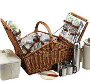 Picnic at Ascot - Huntsman Basket for 4 w/ Coffee Service