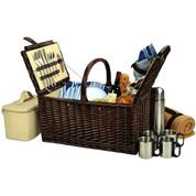 Picnic at Ascot - Buckingham Picnic for 4 w/Blanket & Coffee Set