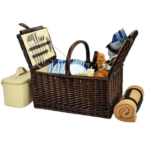 Buckingham Basket for Four w/ Blanket