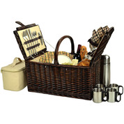 Picnic at Ascot - Buckingham Basket for 4 w/ Coffee Set
