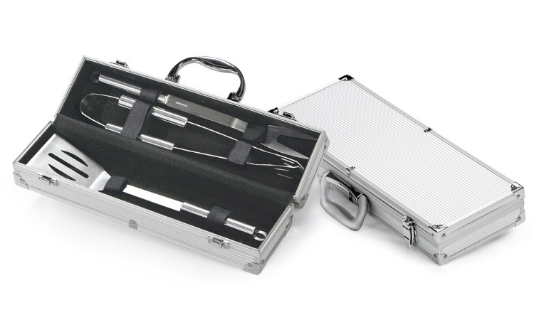 3 Piece BBQ Tool Set with Case