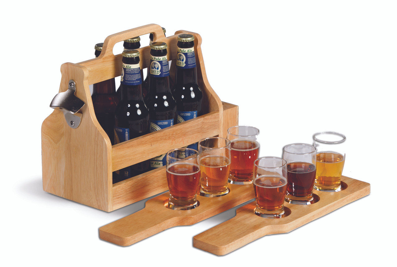 Brew Fest 6 Pack Holder and Taster Flight Set