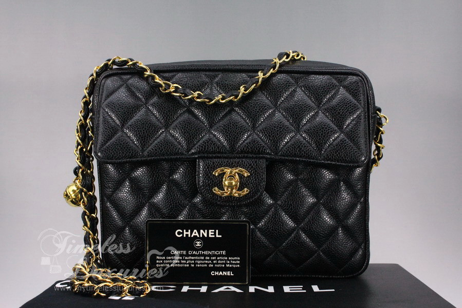 Vintage Chanel Bags Inside Chanel Black Caviar Vintage