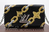 LOUIS VUITTON Chain Flower Epi Leather Twist Chain Wallet #SP4195 *New