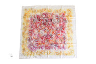 HERMES 'Indian Dust' by Benoit Pierre Emery Silk Twill 90cm Square Scarf