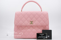 CHANEL Pink Caviar Quilted Jumbo Kelly Flap Bag Gold Hw #8806772