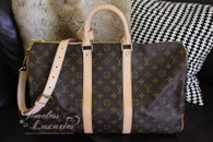 LOUIS VUITTON Monogram Keepall 45 Bandouliere Travel Bag #DU2114 *New