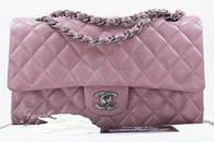 CHANEL 15B Mauve Pink Classic Double Flap Bag #21512019 *New