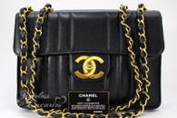CHANEL Black Caviar Mademoiselle Vintage Jumbo Gold Hw #2826770