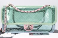 CHANEL 18S Coco Splash PVC Lambskin Flap Bag Silver Hw #25496574