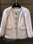 CHANEL 2018 Cruise 18C Runway Tweed Jacket Owl Buttons Ecru 36 FR *New
