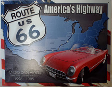 Route 66 Map Tin Sign photo