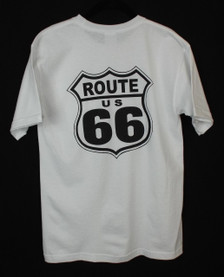 White Route 66 Pocket T-shirt back