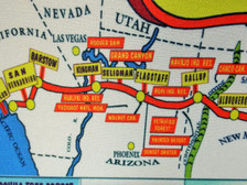 Here we are! Close-up of Seligman Arizona on our Vintage 66 Map Mousepad