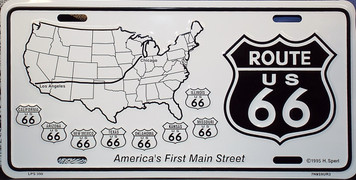 Route 66 America's First Main Street License Plate