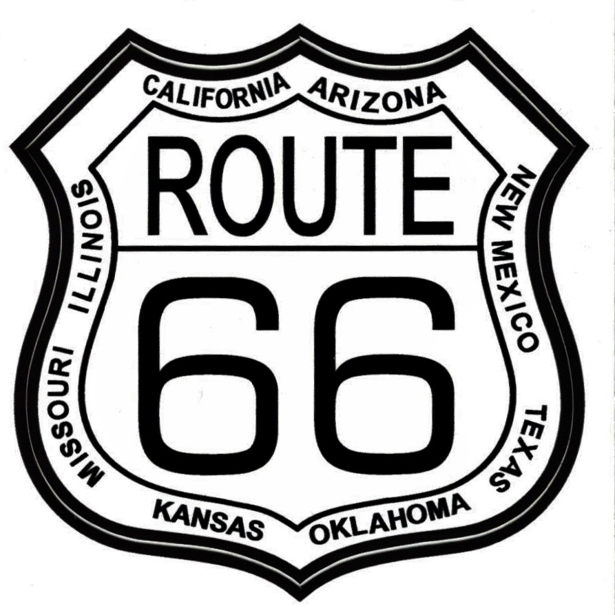 Magnets For Cars >> 8 State Route 66 Sticker - Route 66 Gift Shop