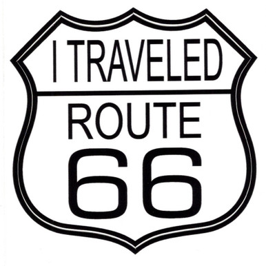 i traveled route 66 sticker route 66 gift shop rh route66giftshop com route 66 logo images route 66 logo clip art