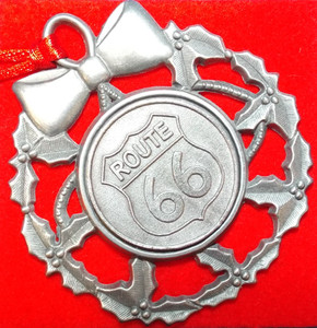 Pewter Route 66 Ornament