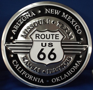 Route 66 Retro Wings Sign