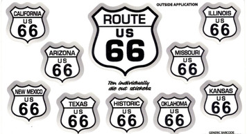 Route 66 10 sticker set