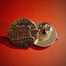 pewter 90th anniversary of Route 66 pin