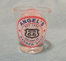 Angel's Barber Shop Shot Glass