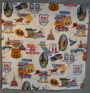 Route 66 Icons Cream Bandana
