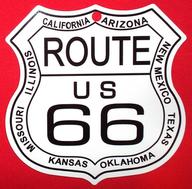 Small Metal 8 States Route 66 Shield
