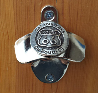 Get Your Kicks Wall Mounted Bottle Opener Made in the USA