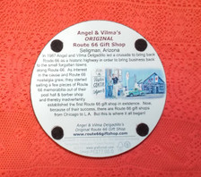 bottom of Angel & Vilma's Gift Shop Coaster