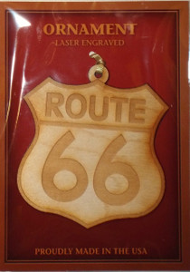 Route 66 Wood Christmas Ornament (Made in the USA)